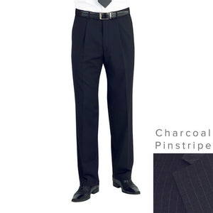 Imola Trousers Charcoal Pinstripe