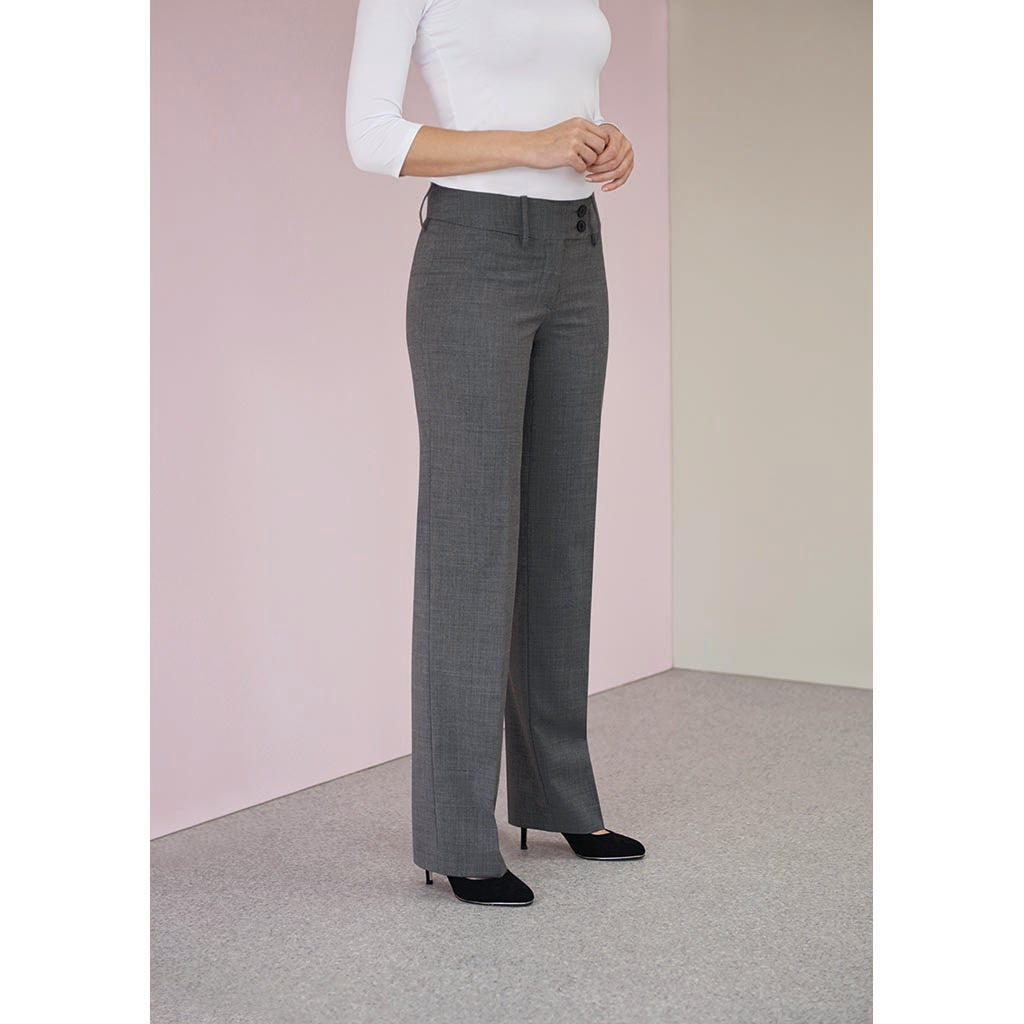 Miranda Ladies Trousers Charcoal Pinstripe