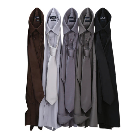 Premier Poplin Shirts (Silver, Brown, Drk Grey, Steel, Black) - peterdrew.com  - 1