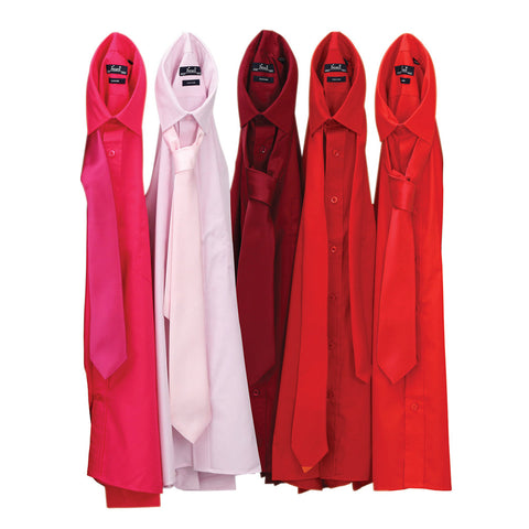 Premier Poplin Shirts (Hot Pink, Pink, Burgundy, Red, Strawberry)