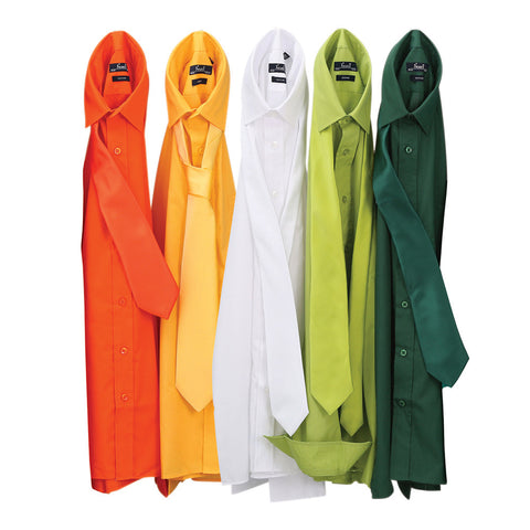 Premier Poplin Shirts (Orange, Sunflower, White, Lime, Bottle)