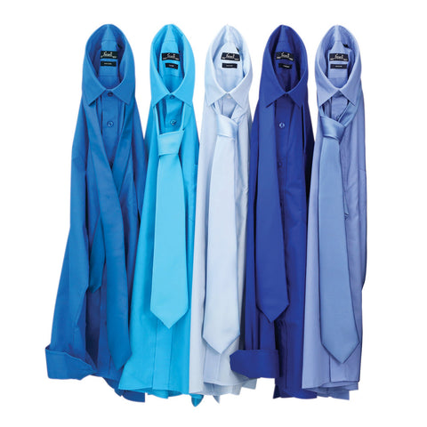 Premier Poplin Shirts (Sapphire, Turquoise, Light Blue, Mid Blue, Royal) - peterdrew.com  - 1