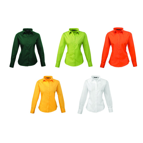 Premier Poplin Blouse (Orange, Sunflower, White, Lime, Bottle)