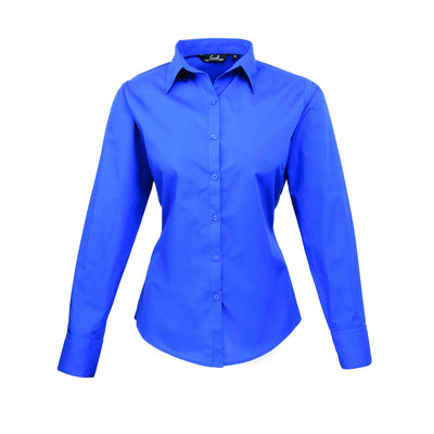 Premier Poplin Blouse (Sapphire, Turquoise, Light Blue, Mid Blue, Royal)