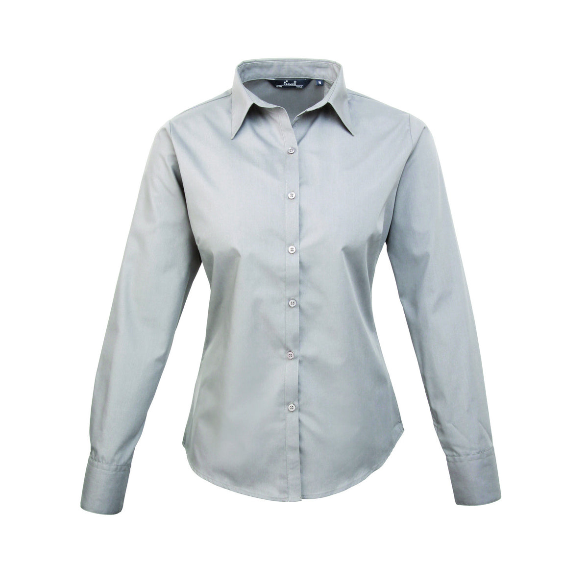Premier Poplin Blouse (Silver, Brown, Drk Grey, Steel, Black)