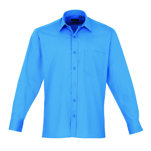 Premier Poplin Shirts (Sapphire, Turquoise, Light Blue, Mid Blue, Royal) - peterdrew.com  - 7