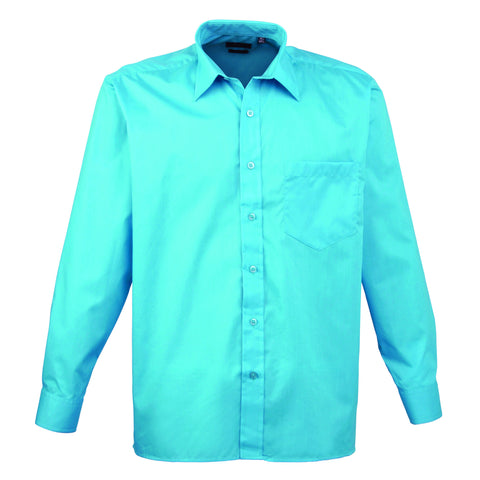 Premier Poplin Shirts (Sapphire, Turquoise, Light Blue, Mid Blue, Royal) - peterdrew.com  - 8