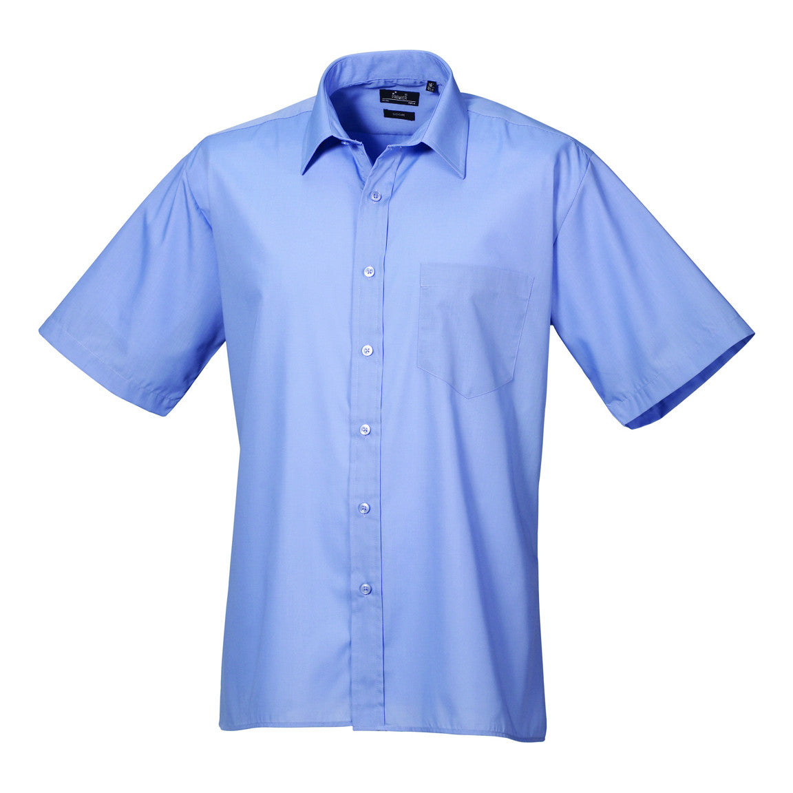 Premier Poplin Shirts (Sapphire, Turquoise, Light Blue, Mid Blue, Royal) - peterdrew.com  - 3