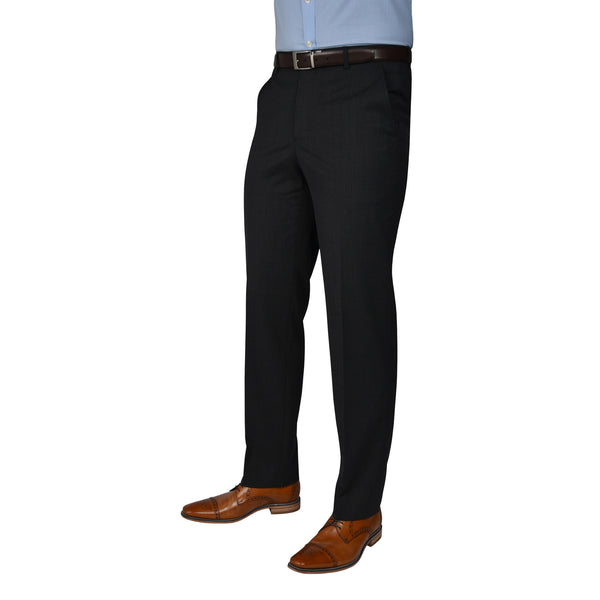 Black Label Trousers Charcoal - peterdrew.com  - 1