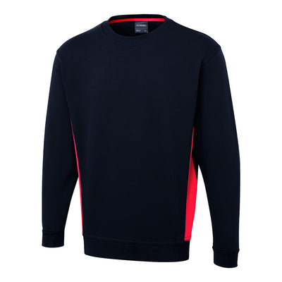 Two Tone Crew Neck Sweatshirt - UC217