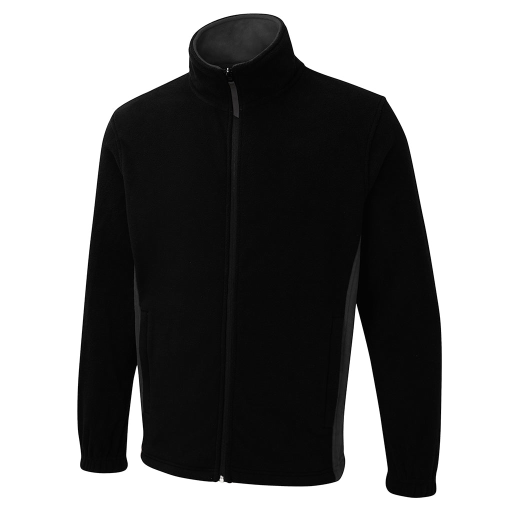 Two Tone Full Zip Fleece Jacket - UC617