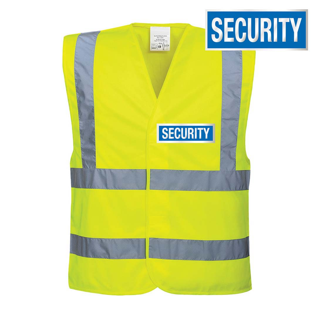 Hi-Vis Velcro Security Vest