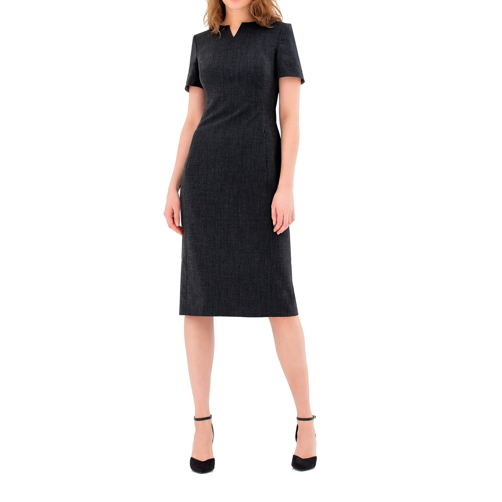 Perivale Ladies Dress Charcoal