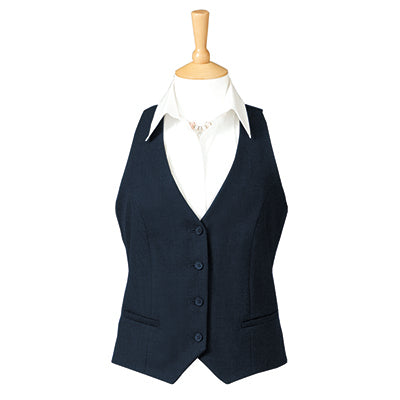 Adelphi Four Button Ladies Waistcoat Navy