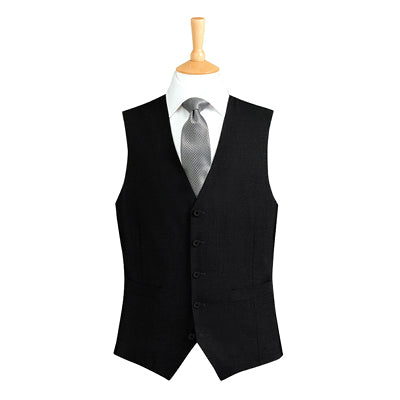 Ritz Five Button Mens Waistcoat Black
