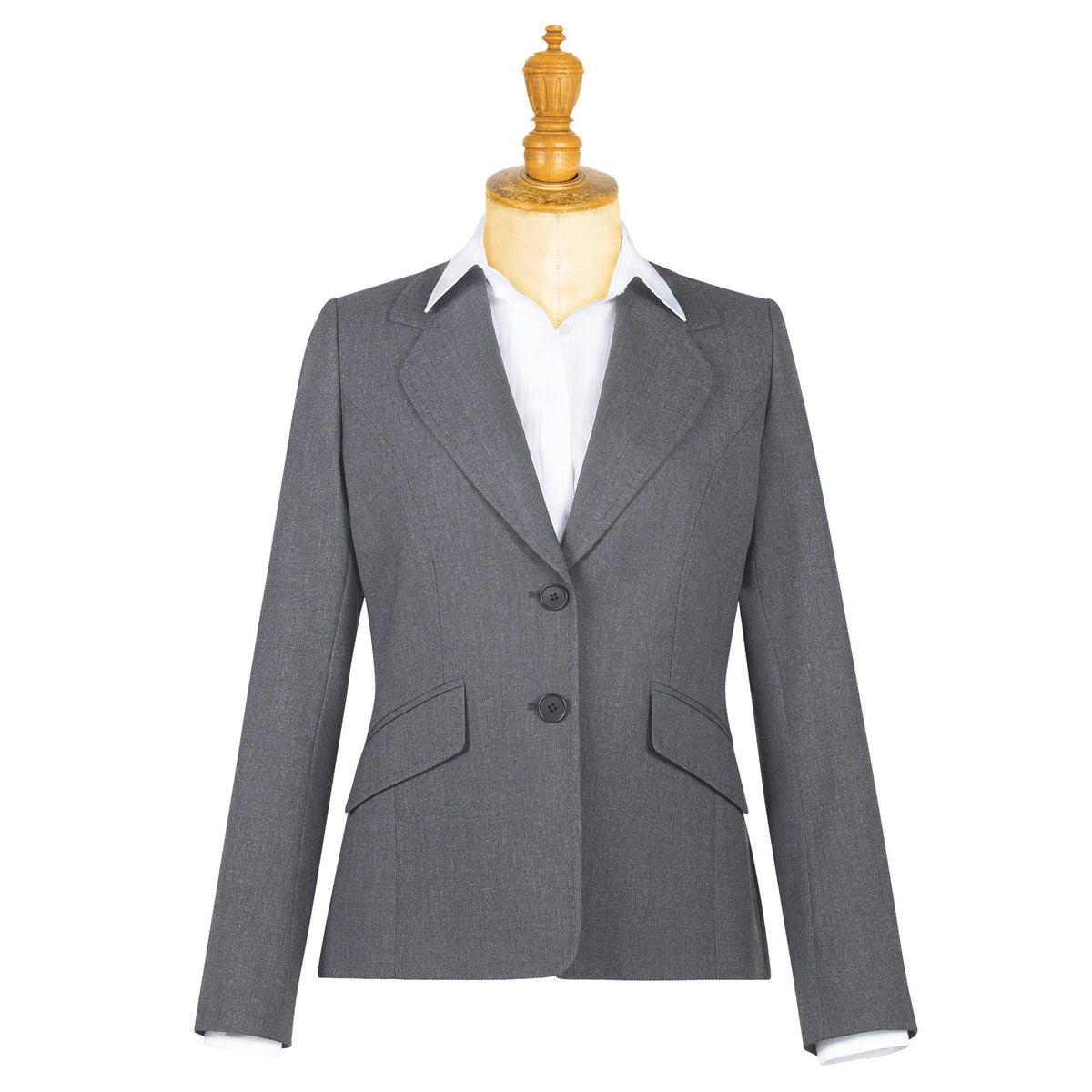 Bloomsbury Ladies Jacket Grey Grey Stripe