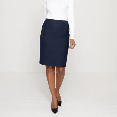 Caccini Ladies Skirt Navy Navy Dot