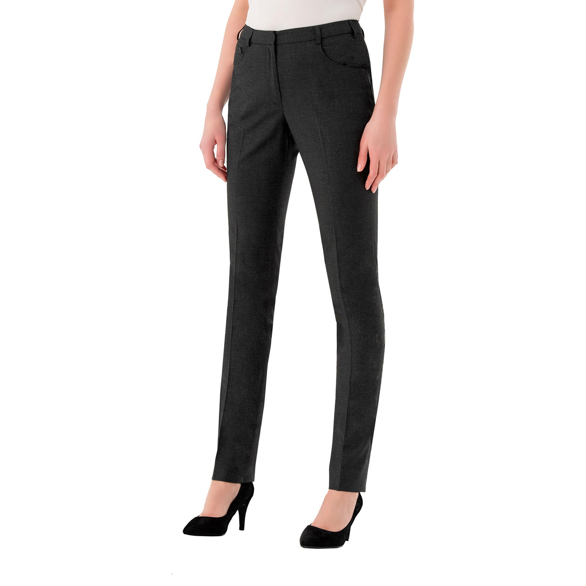 Chiswick Ladies Trousers Charcoal