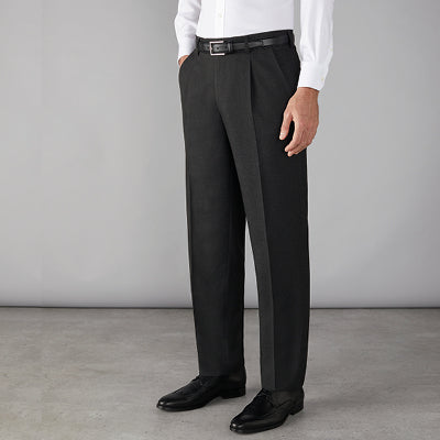 Stone Easy Waist Mens Trousers Black