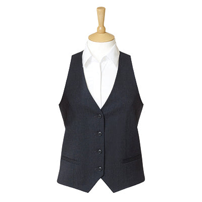 Strand Four Button Ladies Waistcoat Charcoal