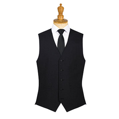Borough Mens Waistcoat Black