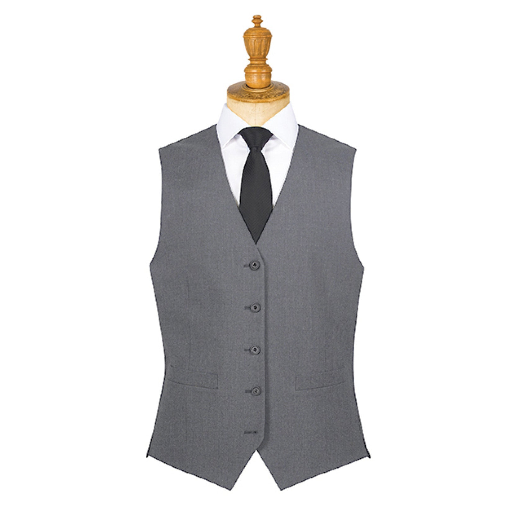 Borough Mens Waistcoat Grey Grey Stripe
