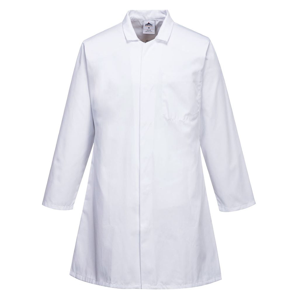 Food Coat 3 Pockets 2206 White