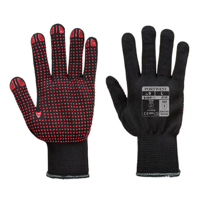 Polka Dot Glove A110 Black