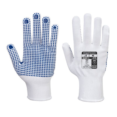 Polka Dot Glove A110 WhiteBlue