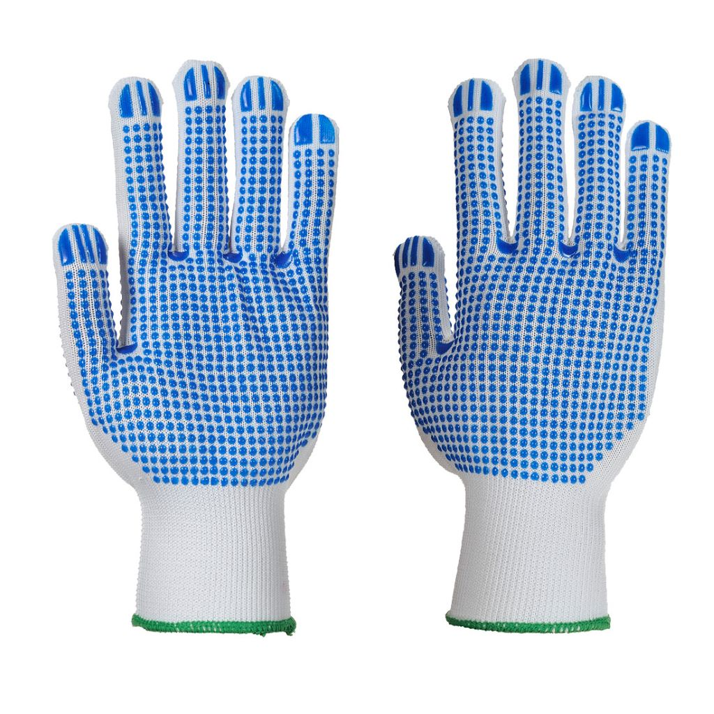 Polka Dot Plus Glove A113 WhiteBlue