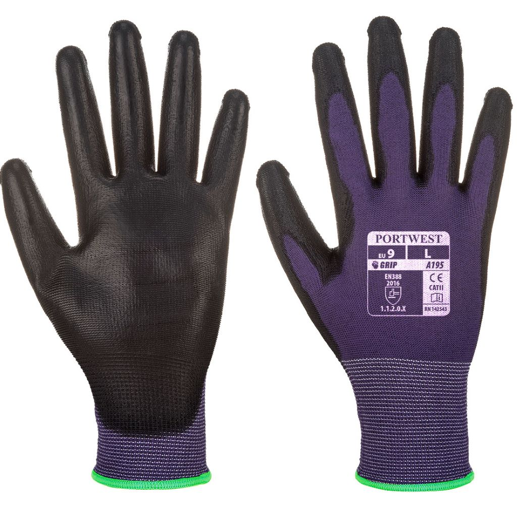 PU Touchscreen Glove A195 PurpleBlack