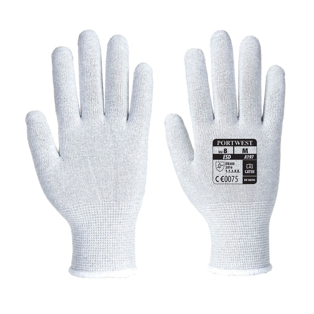 Antistatic Shell Glove A197 Grey