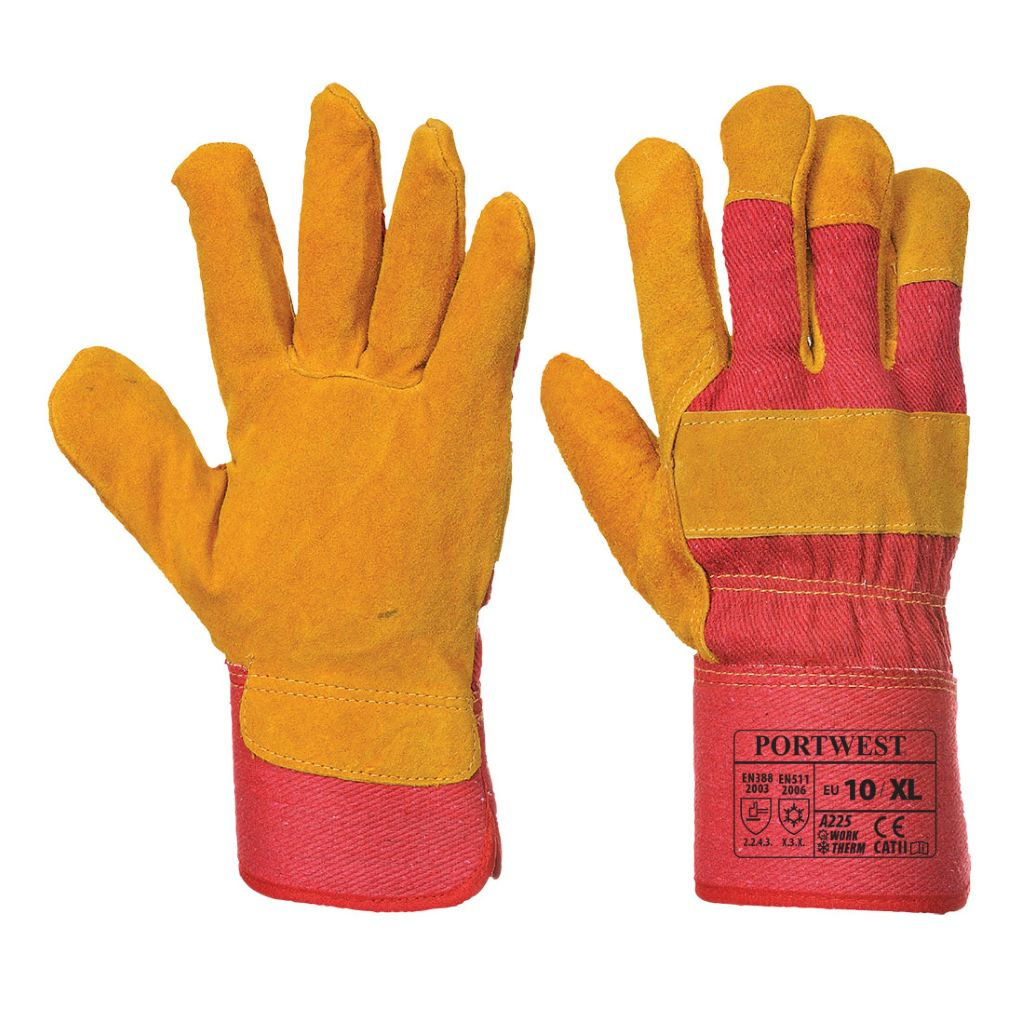Fleece Lined Rigger Glove A225 Red