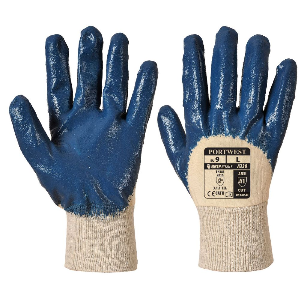 Nitrile Light Knitwrist Glove A330 Navy