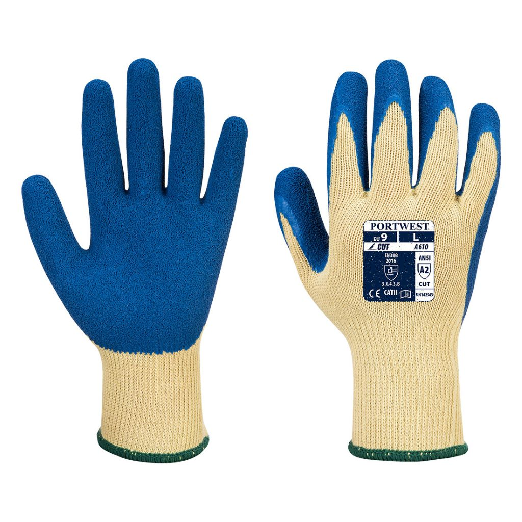 LR Latex Grip Glove A610 YellowBlue