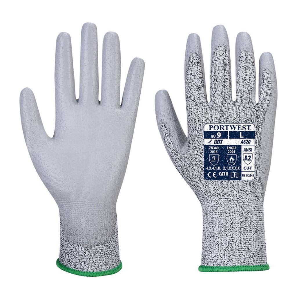 LR Cut PU Palm Glove A620 Grey
