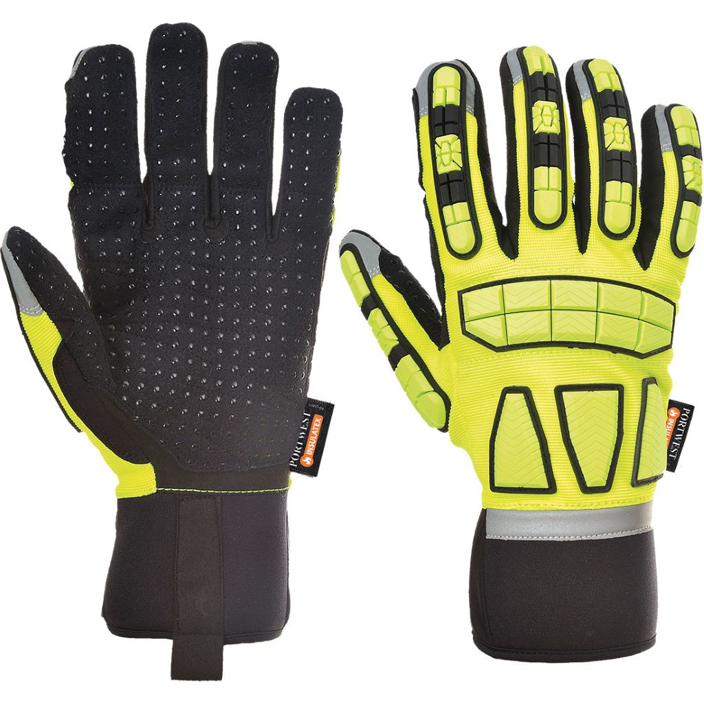 Safety Impact Glove Lined A725 Yellow