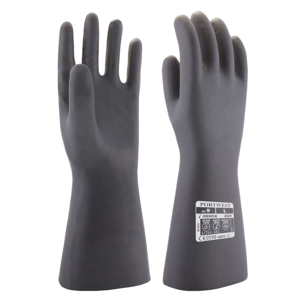 Neoprene Chemical Gauntlet A820 Black