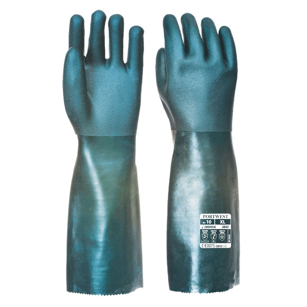 Double Dipped PVC Gauntlet A845 Green