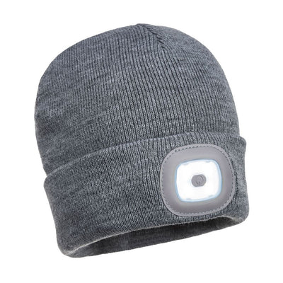Rechargeable LED Beanie B029 Grey