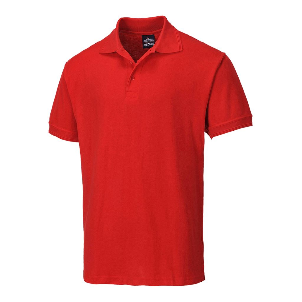 Naples Polo Shirt B210 Red