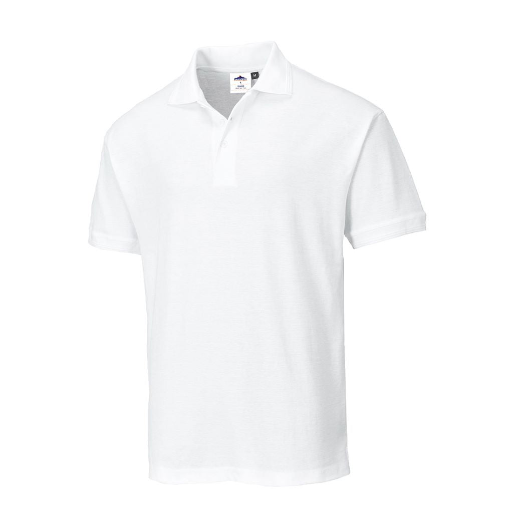 Naples Polo Shirt B210 White