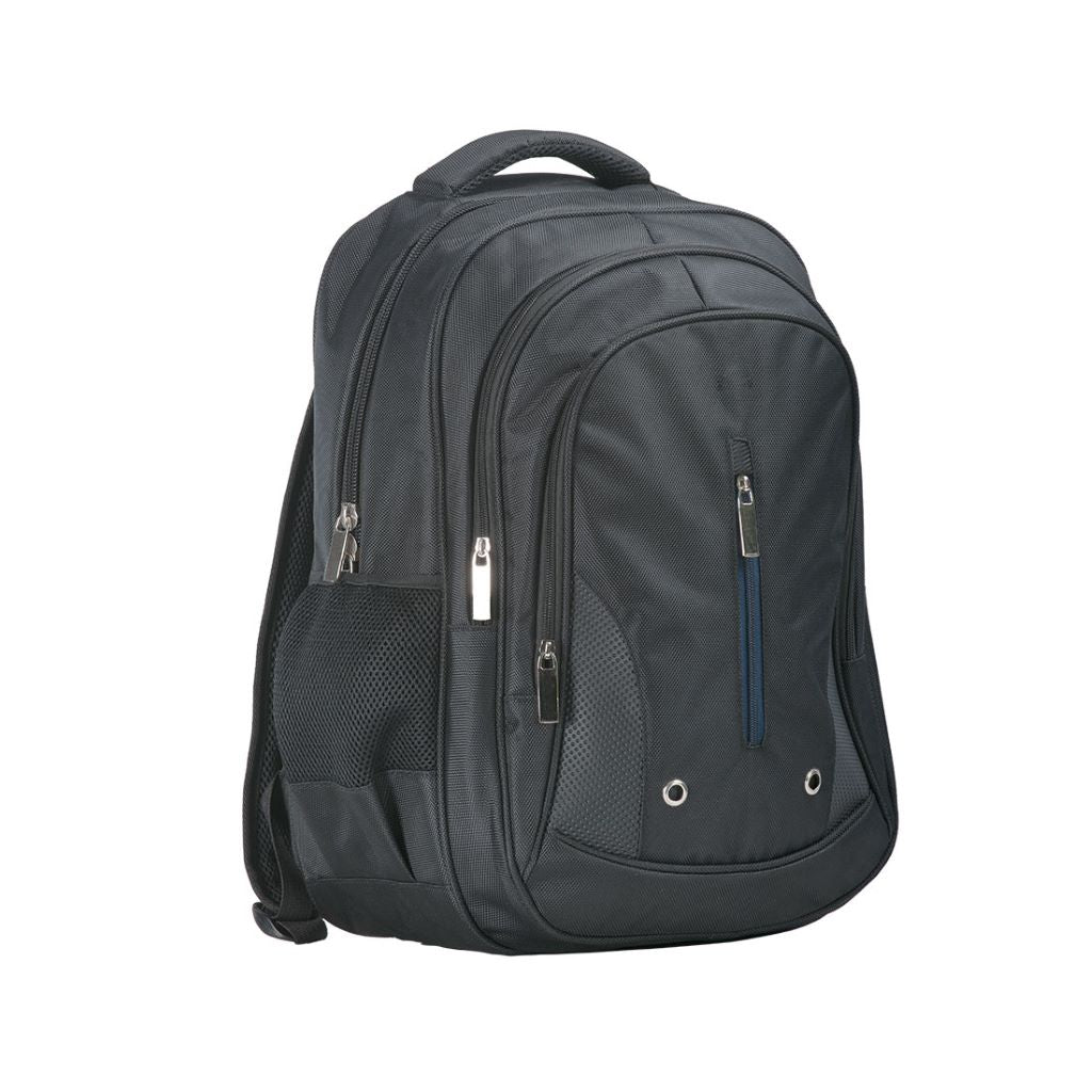 Triple Pocket Backpack B916 Black