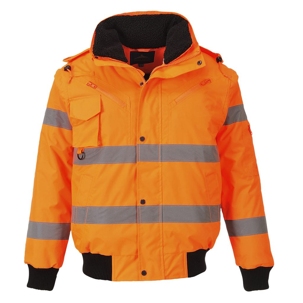 Hi-Vis 3 in 1 Bomber Jacket C467 Orange