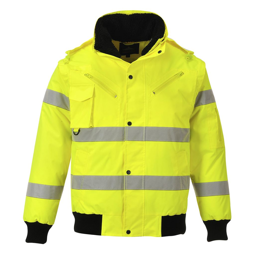 Hi-Vis 3 in 1 Bomber Jacket C467 Yellow