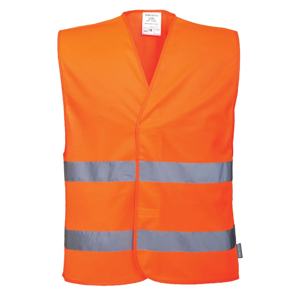 Hi-Vis 2 Band Vest C474 Orange