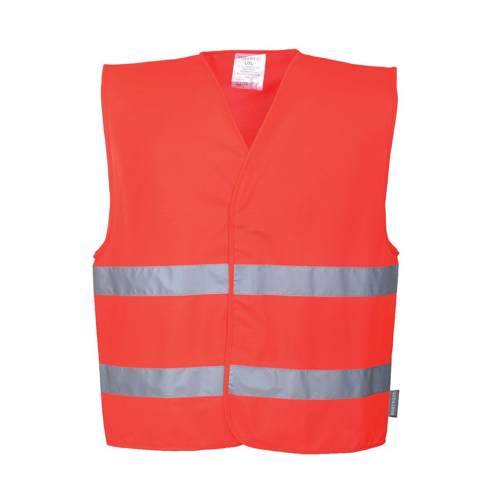 Hi-Vis 2 Band Vest C474 Red