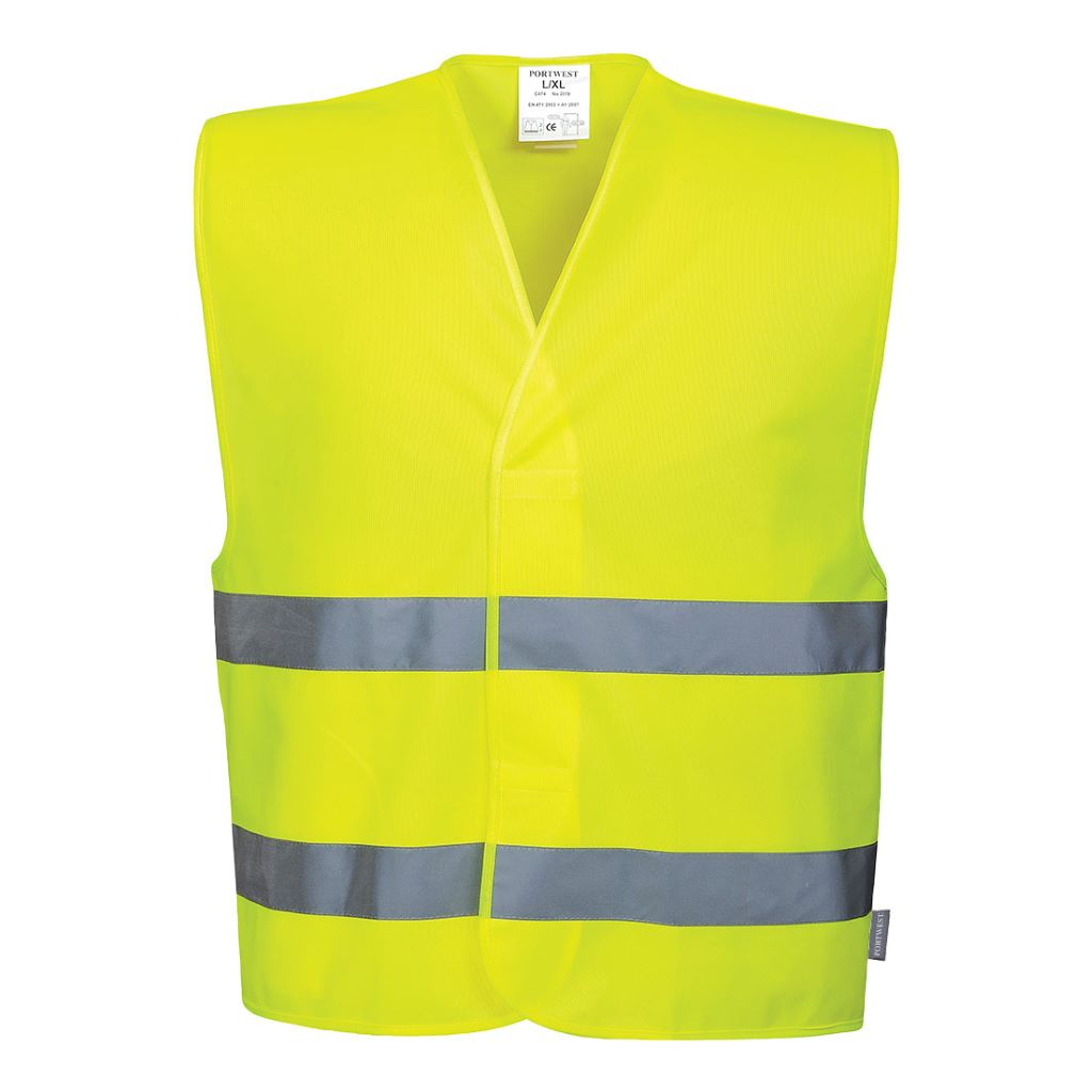 Hi-Vis 2 Band Vest C474 Yellow