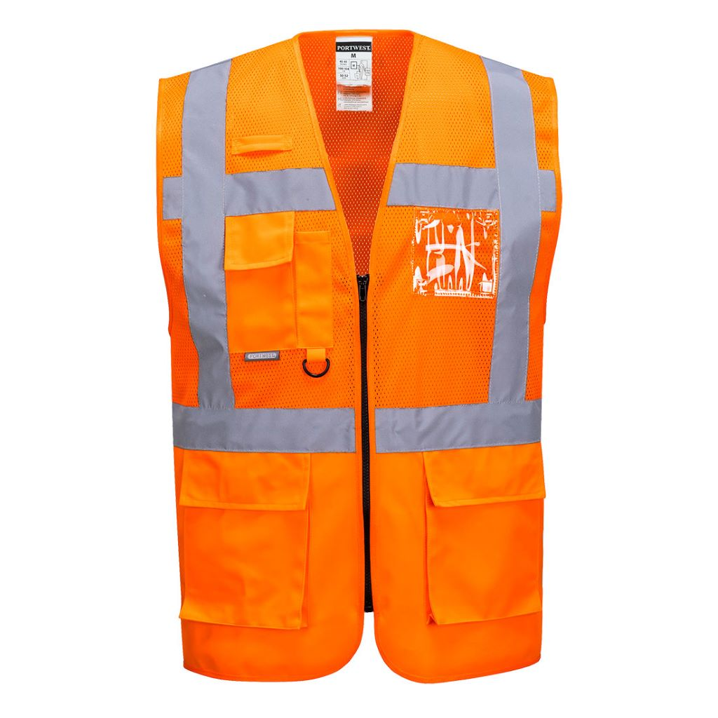 Madrid Executive Mesh Vest C496 Orange