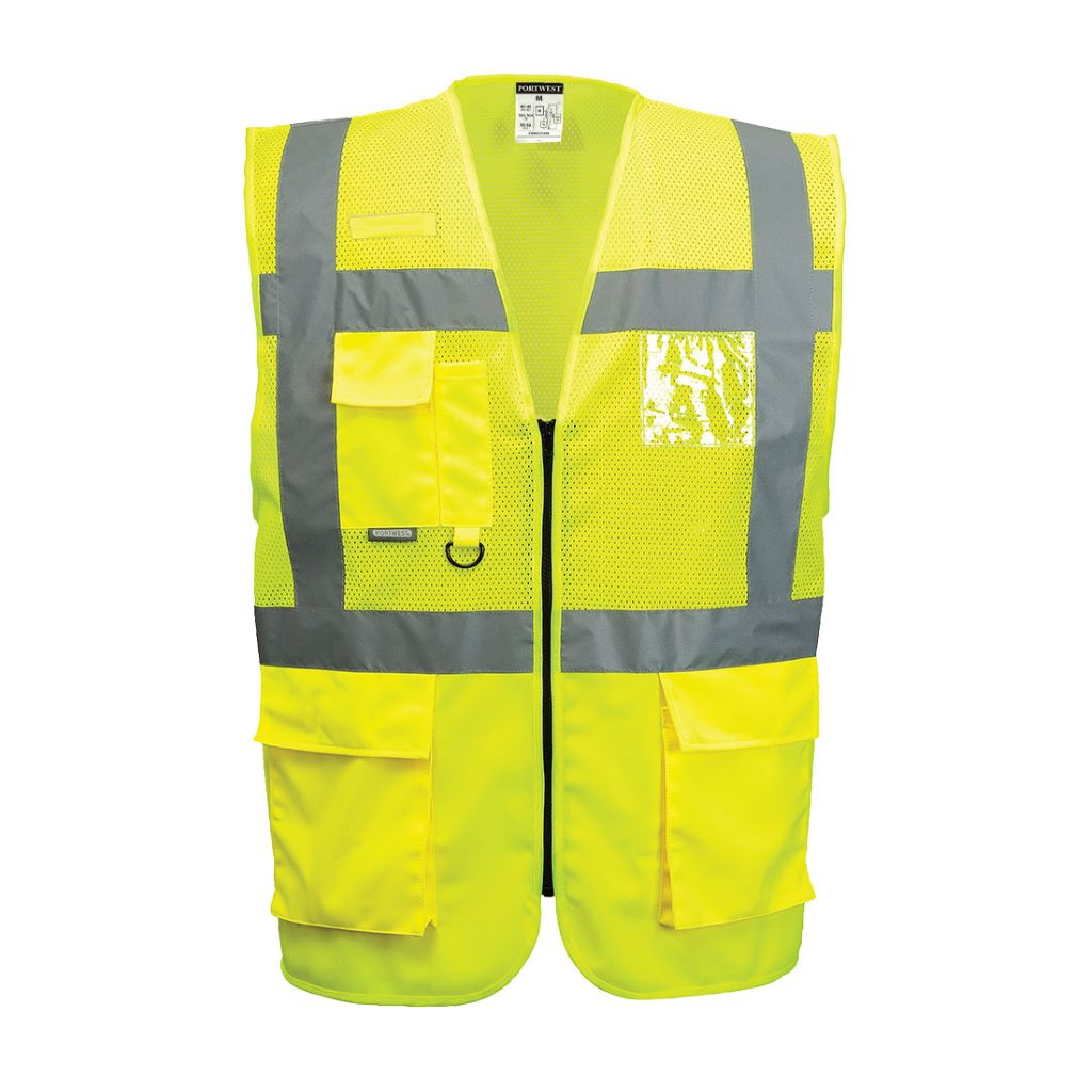 Madrid Executive Mesh Vest C496 Yellow